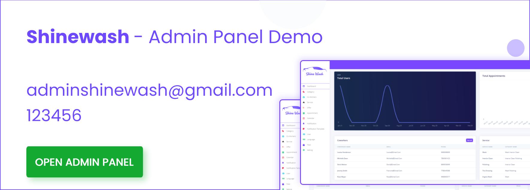 Admin-panel-demo