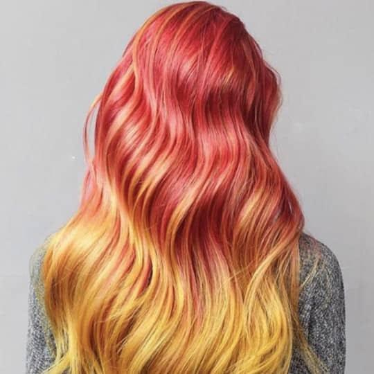 Women with ombre hair styles