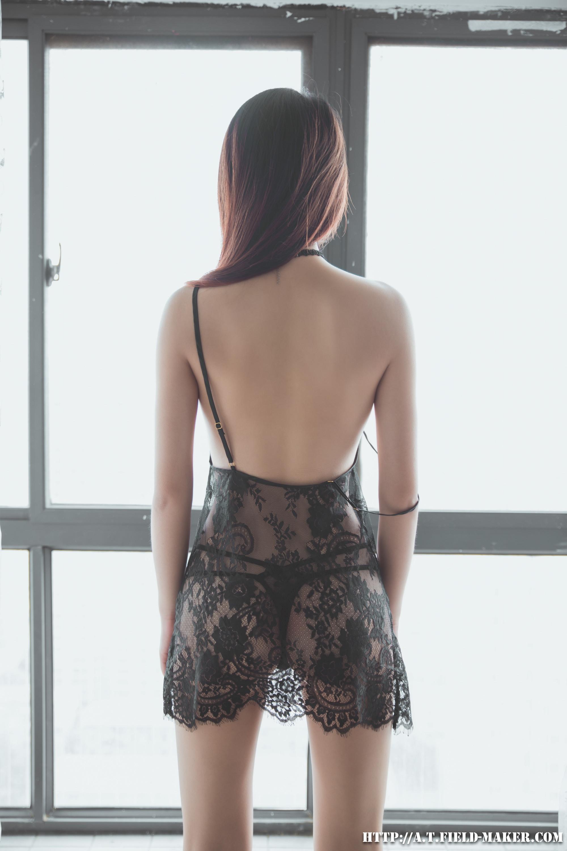 Tsubaki Album vol.006 Sheer lace pajamas 怠いお昼のパジャマ少女 sexy-nightdress-35