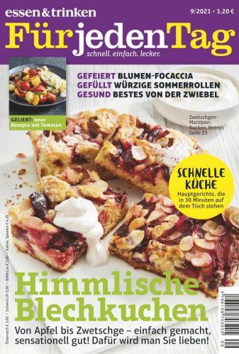 Cover: Essen und Trinken für jeden Tag Magazin No 09 2021