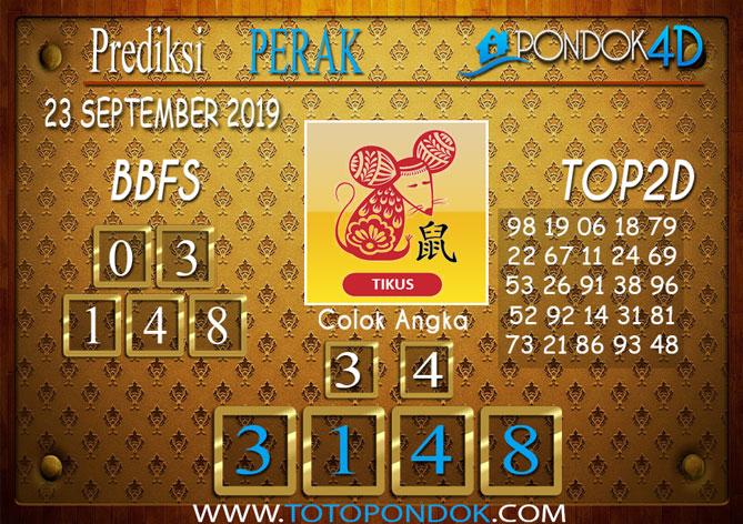 Prediksi Togel PERAK PONDOK4D 23 SEPTEMBER 2019