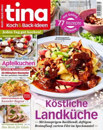 Cover: Tina Koch und Back-Ideen Magazin No 09 2021
