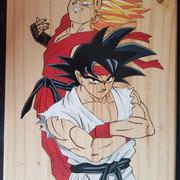 De quoi décorer vos salles de jeux Goku-Vegeta-A3