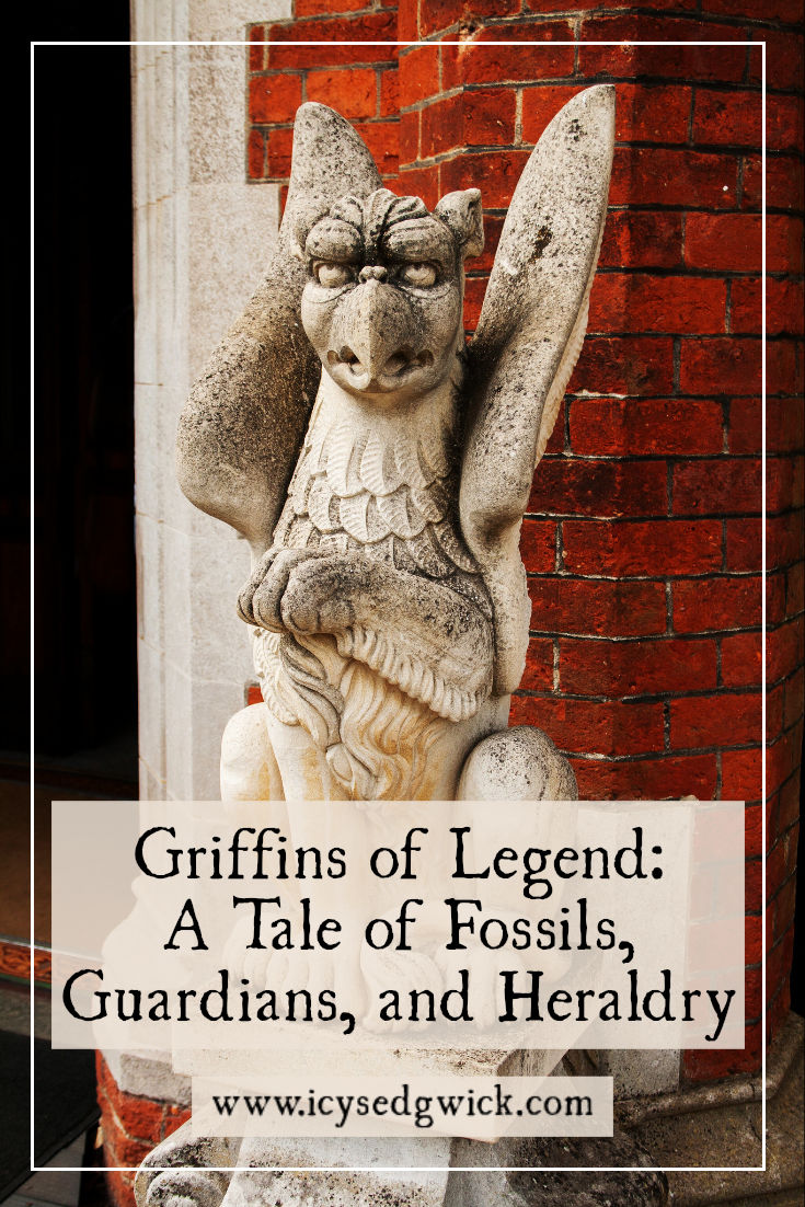 Griffins are popular symbols in art and heraldry. What legends are associated with these mythical beasts? How are they linked to fossils?