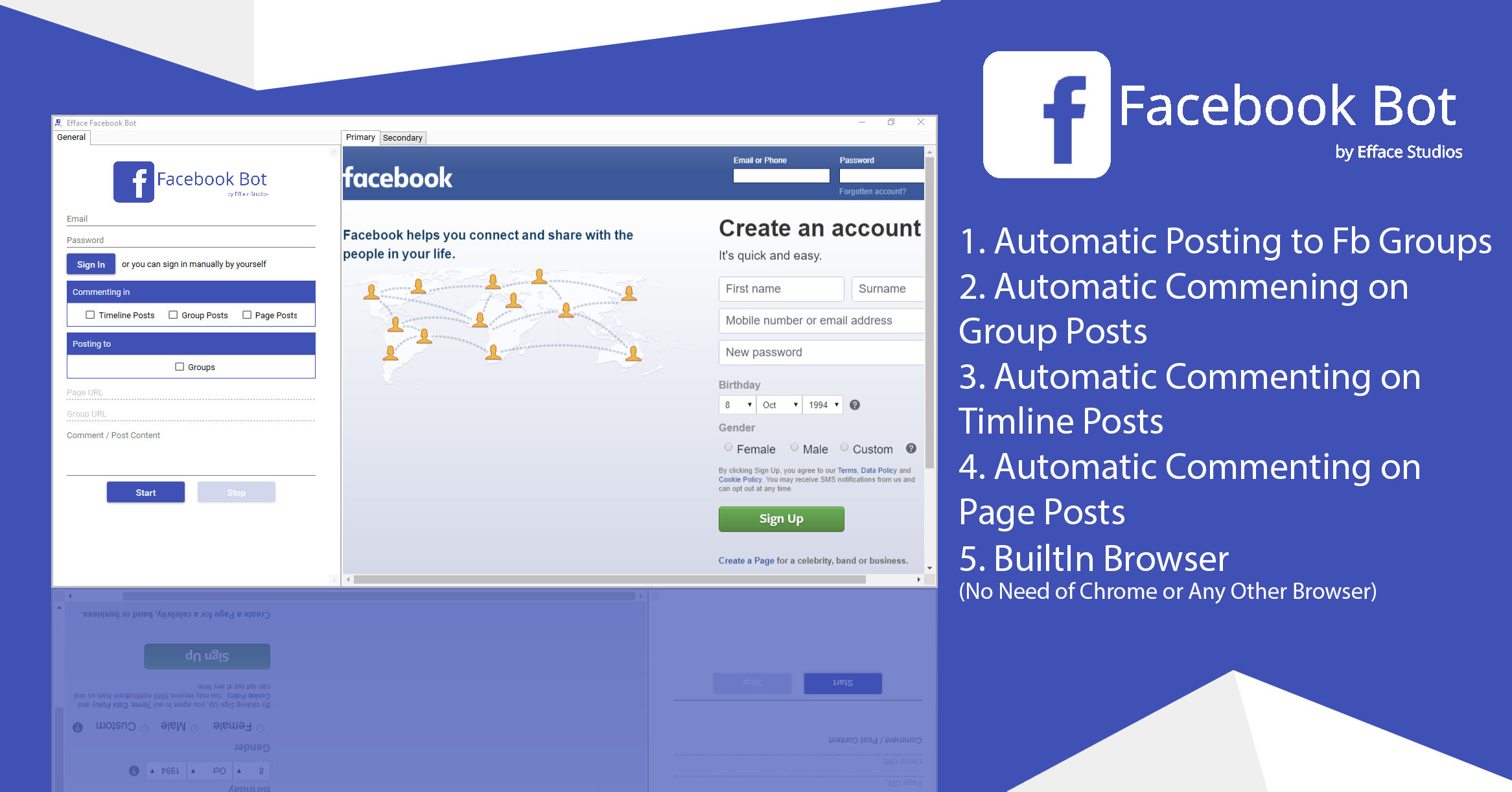 Efface Facebook Bot - A New Way of Social Engagements - 1