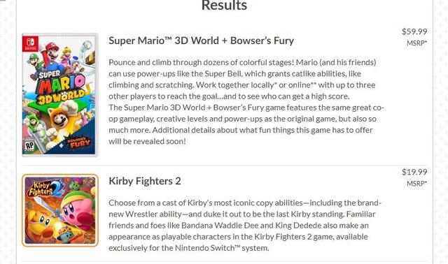 據ResetEra用戶Atheerios的消息,任天堂官網遊戲列表上意外洩露了《卡比戰士2》(Kirby Fighters 2 ) Image