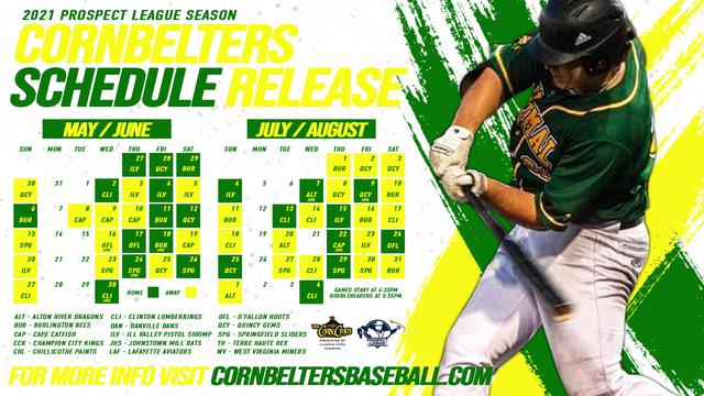 CornBelters / Prospect League Schedule