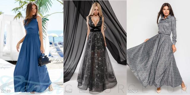 модные длинные платья фото
