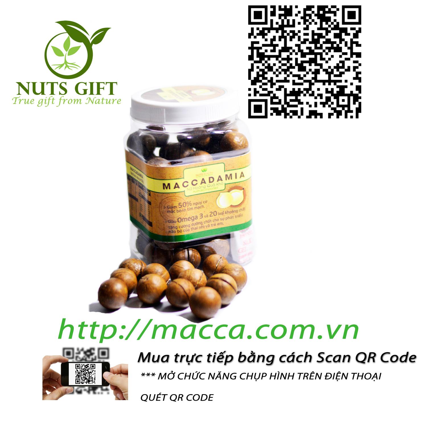 HẠT MẮC CA MACCA ÚC – NUTSHEALTH – 500 GR