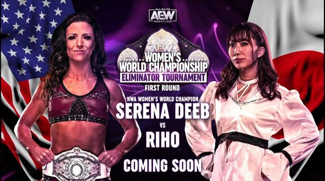 Riho regresa a AEW contra Serena Deeb 27 enero