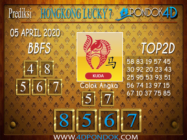 Prediksi Togel HONGKONG LUCKY 7 PONDOK4D 05 APRIL 2020