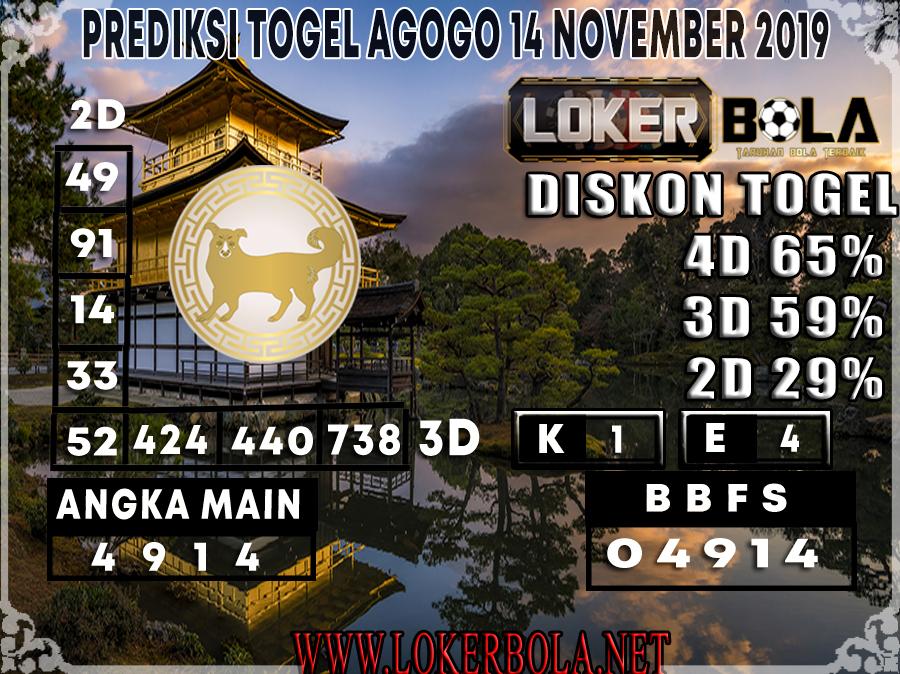 PREDIKSI TOGEL AGOGO LOKERBOLA 14 NOVEMBER 2019