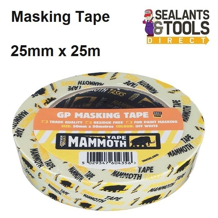 Everbuild Mammoth Masking Tape 25mm x 25m 2MASKLABSM25