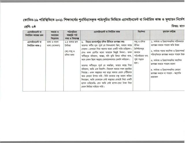 Clss-6-Bangla