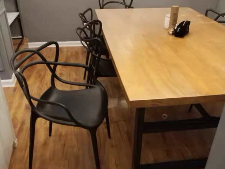 Masters style moulded clear dining chair