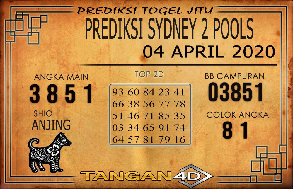 PREDIKSI TOGEL SYDNEY 2 TANGAN4D 04 APRIL 2020