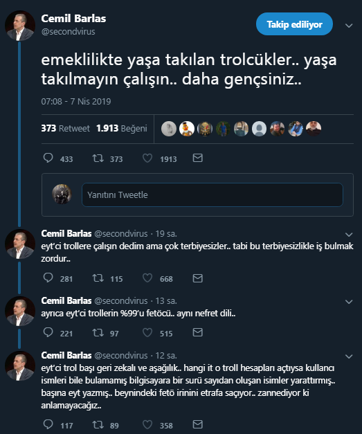 Cemil Barlas tweet'leri