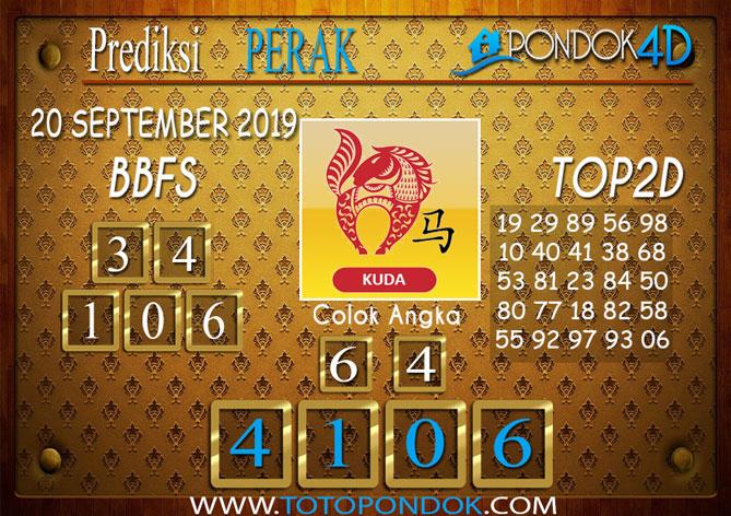 Prediksi Togel PERAK POOLS PONDOK4D 20 SEPTEMBER 2019