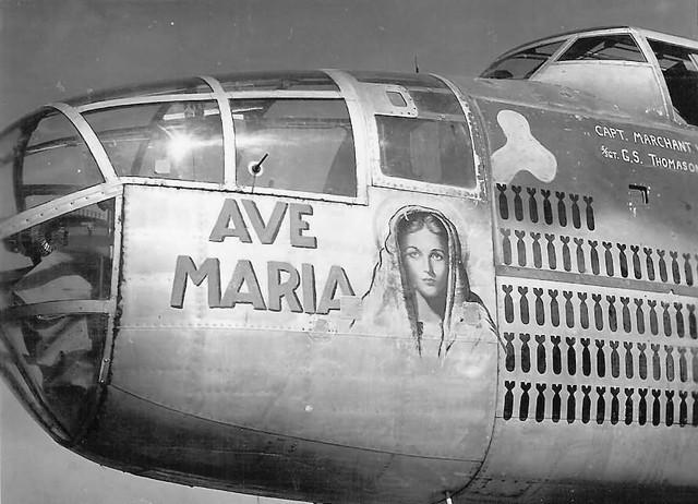B 25 Mitchell Bomber Ave Maria