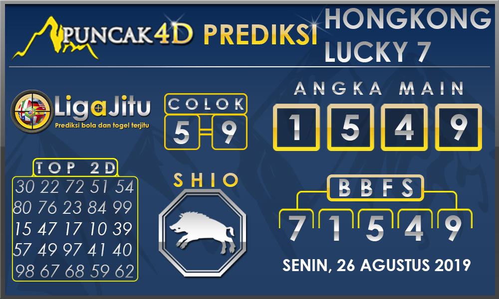PREDIKSI TOGEL HONGKONG LUCKY7 PUNCAK4D 26 AGUSTUS 2019