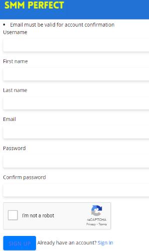 SMMPerfect Registration