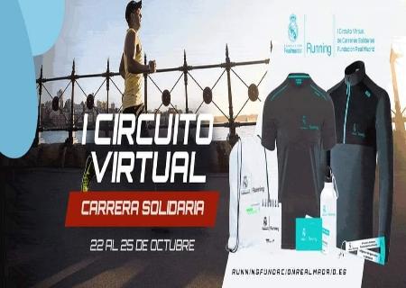 Del 22 al 25 de Octubre llega la primera Carrera Solidaria Virtual de la Fundación Real Madrid
