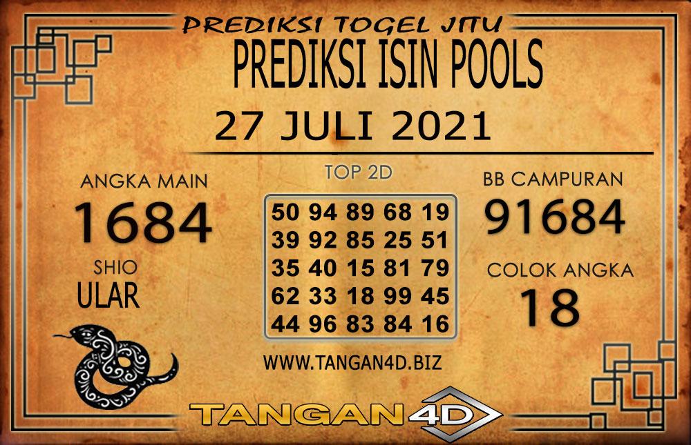 PREDIKSI TOGEL ISIN TANGAN4D 27 JULI 2021