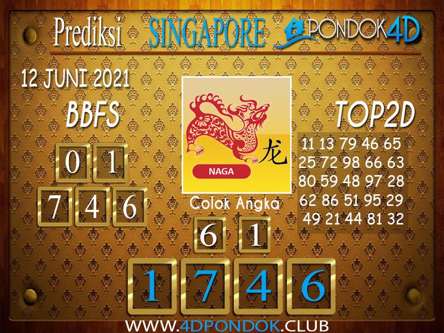Prediksi Togel SINGAPORE PONDOK4D 12 JUNI 2021