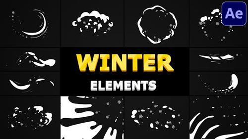 Snow Motion Elements | After Effects 29508255 - After Effects Project & Script (Videohive)