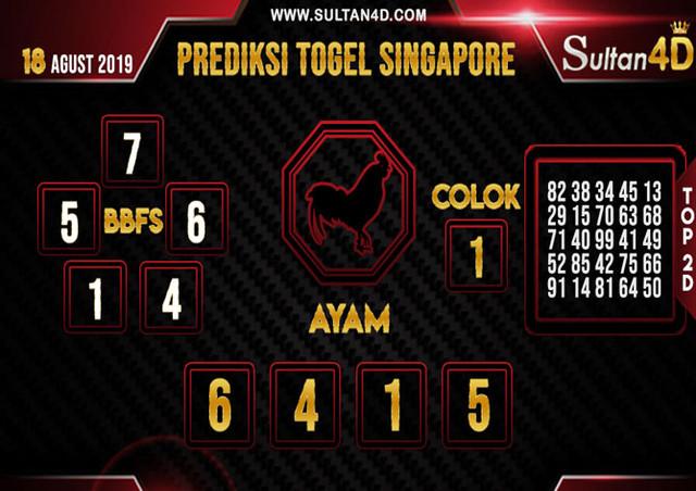PREDIKSI TOGEL SINGAPORE SULTAN4D 18 AGUSTUS 2019