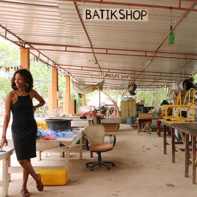 Fair Trade batik workshop in Kokrobite, Ghana just ourside of Accra