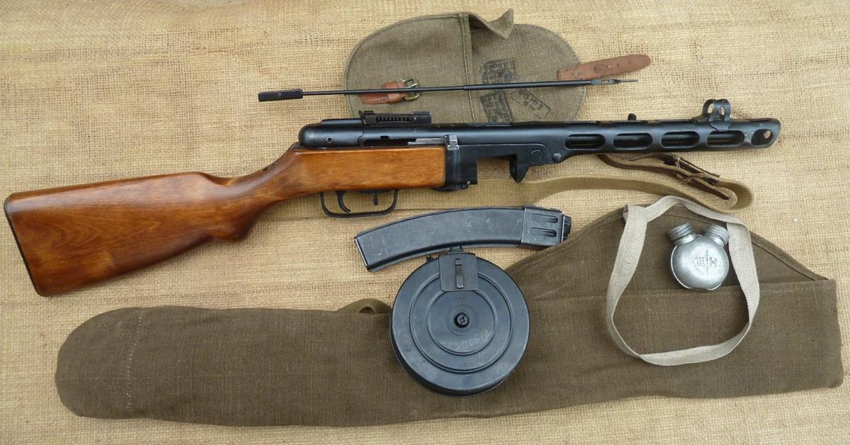 Soviet submachine gun PPSh-41