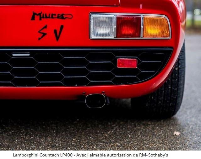 Lamborghini Miura SV et Countach LP 400 «Periscopio» atteignent des prix records à la vente RM Sotheby's Paris 579673-v2