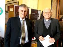 Dr. R. Petrucci - ASL FR; S.E. Mons. A. Spreafico - Vescovo Diocesi Fosinone Veroli Ferentino