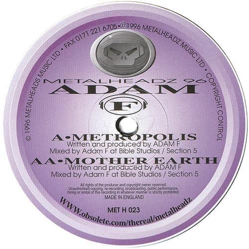 Download Adam F - Metropolis / Mother Earth mp3