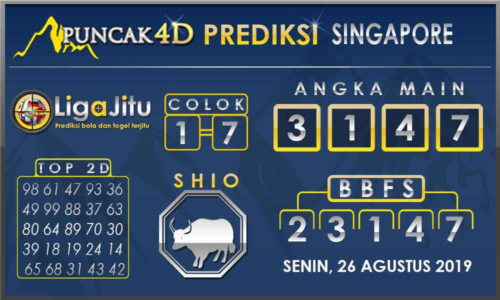 PREDIKSI TOGEL SINGAPORE PUNCAK4D 26 AGUSTUS 2019