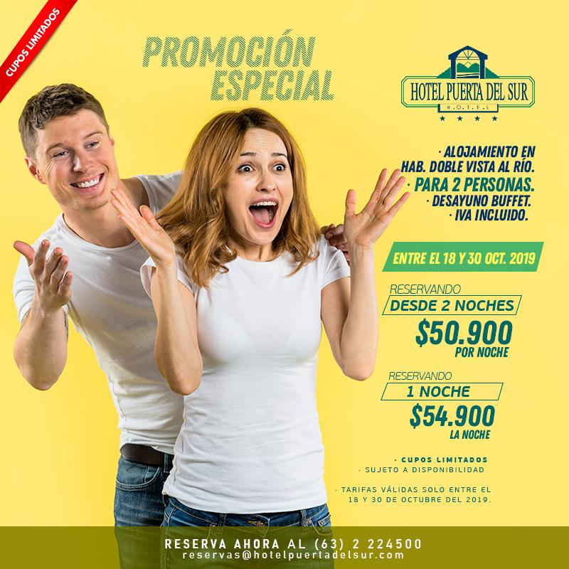 Promoción OCTUBRE 2019 Hotel Puerta del Sur