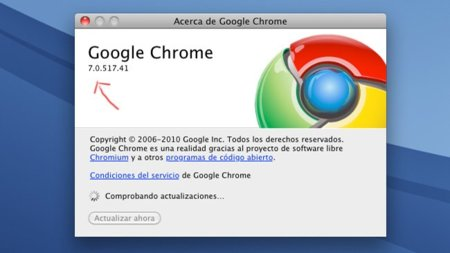 Actualizar el Google Chrome desde dispositivos Apple.