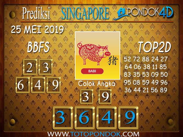 Prediksi Togel SINGAPORE PONDOK4D 25 MEI 2019