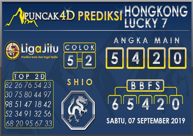 PREDIKSI TOGEL HONGKONG LUCKY7 PUNCAK4D 07 SEPTEMBER 2019