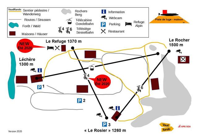 Domaine miniature Piste de luge-maison  Wanderung-Plan-2020