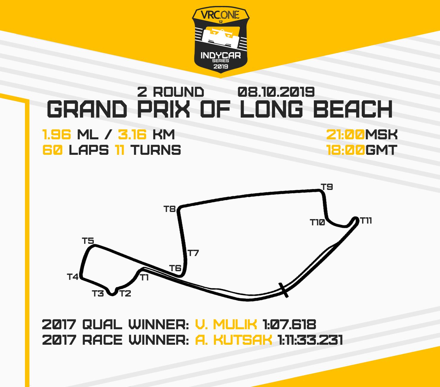 VRC Indycar 2019 - Round 2 - Long Beach