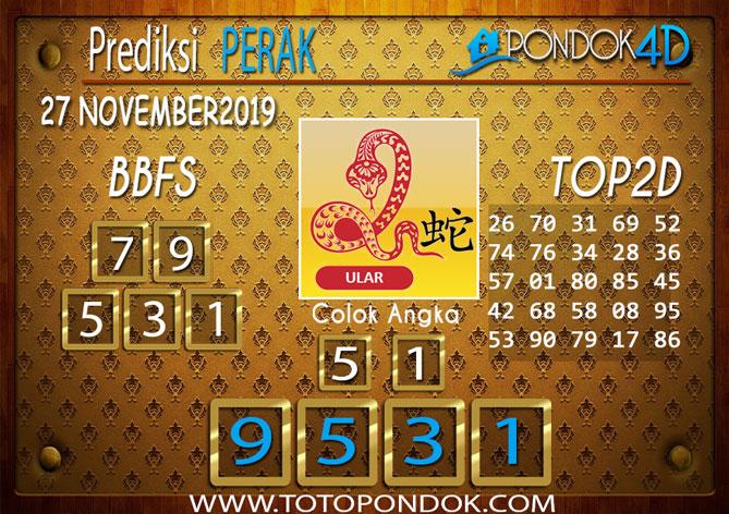 Prediksi Togel PERAK PONDOK4D 27 NOVEMBER 2019