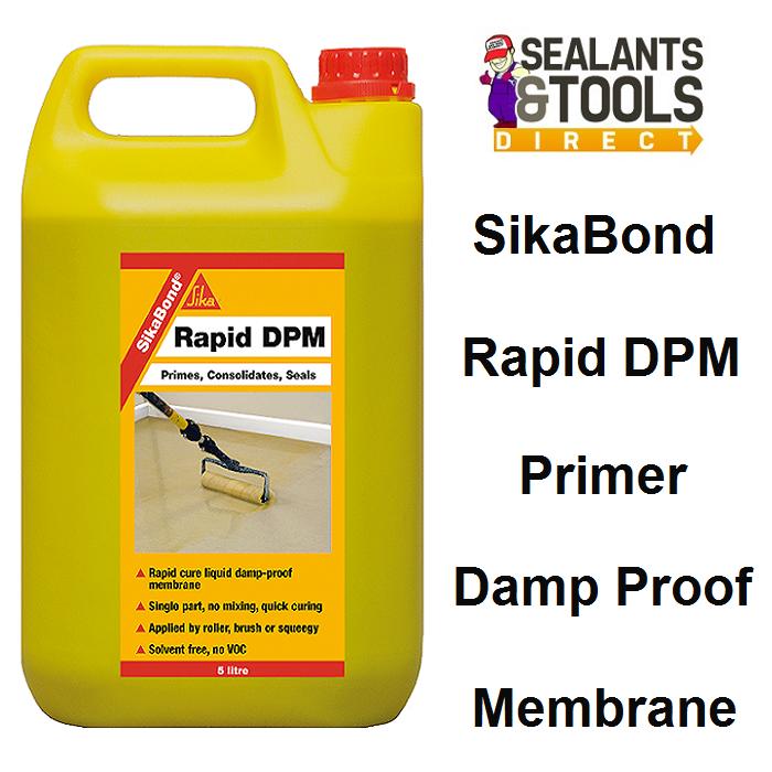 Sika SikaBond Rapid DPM Resin Primer 5 Litre SKBDRAPDPM5