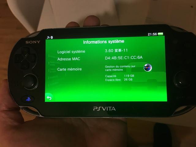 [Vendu] PS Vita Wifi enso sd2vita 128Go en boîte 80€ ADFA2-C56-BBE6-41-C5-81-E3-793-C788-CBE4-A