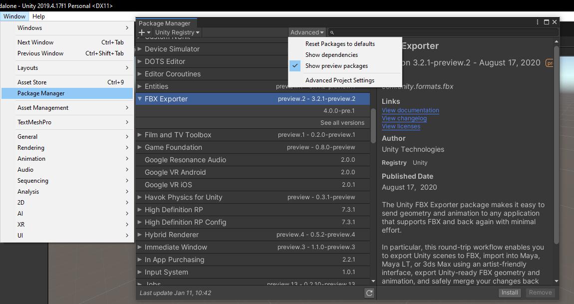 Exportar Modelo 3D da Unity Captura-de-Tela-3