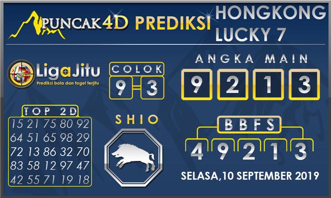 PREDIKSI TOGEL HONGKONG LUCKY7 PUNCAK4D 10 SEPTEMBER 2019