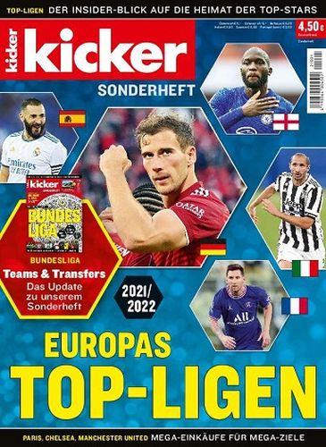 Cover: Kicker Sportmagazin Sonderheft Europas Top-Ligen September 2021