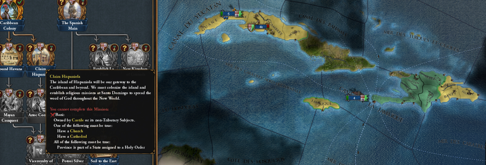 Help with spanish missions/colonial nations | Paradox