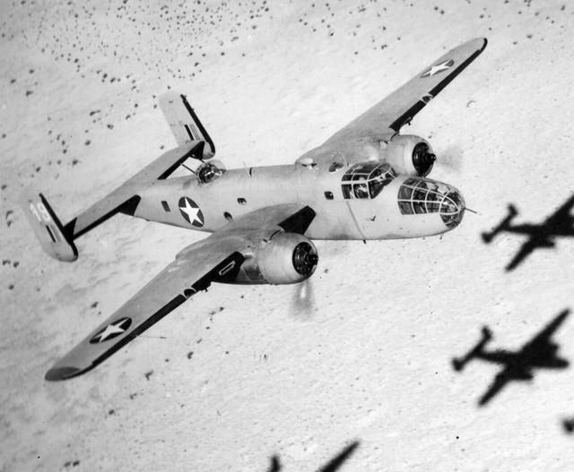 B 25 Mitchell over africa desert Copy